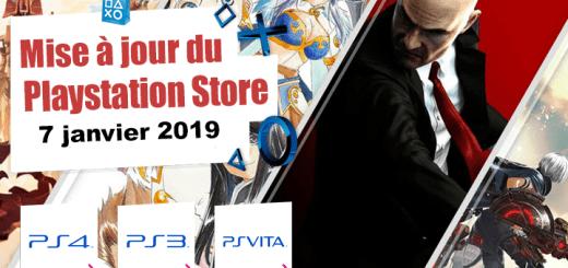 Playstation Store mise à jour 7 janvier 2019