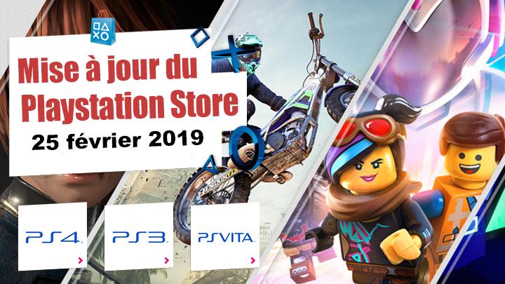 Playstation Store mise à jour du 25/02/2019