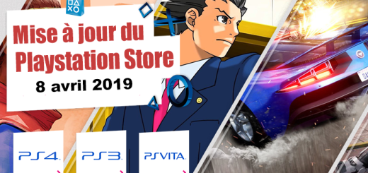 Playstation Store mise à jour du 8 avril 2019