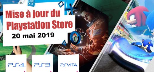 Playstation Store mise à jour du 20 mai 2019