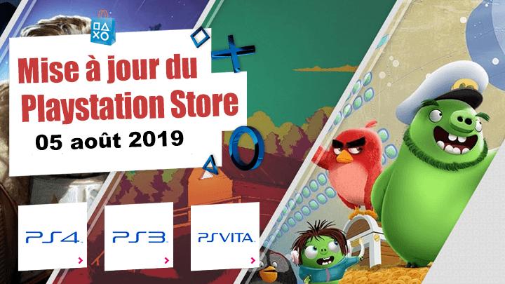 Playstation Store mise à jour du 5 août 2019