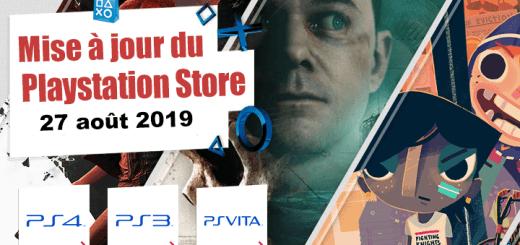 Playstation Store mise à jour du 27 août 2019