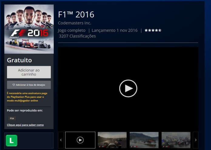 f1 2016 gratis
