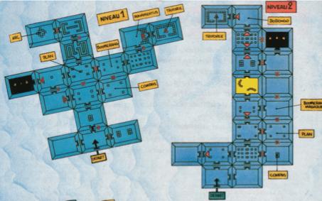Extrait de la soluce du jeu : The legend of Zelda sur la NES (plans des 2 premiers donjons)