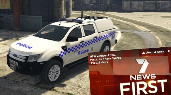 GTA mod NSW police