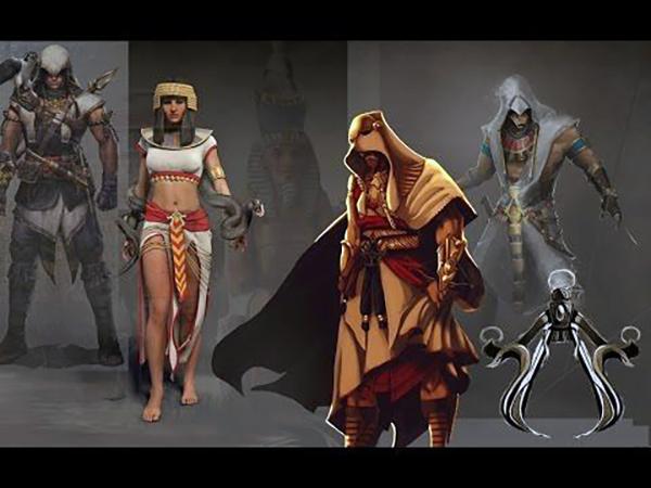 Amunet artwork Assassin's Creed Origins