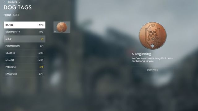 Battlefield 1 ps4 dog tags easter egg