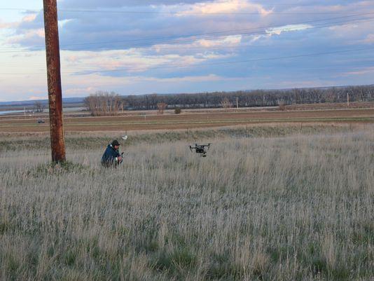 Far Cry 5 film crew using drone in Montana