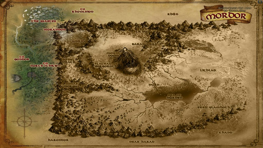 LOTRO Mordor Map Screenshot