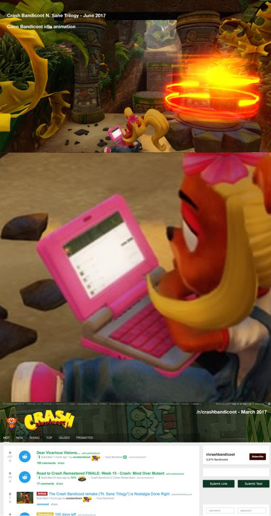 Crash Bandicoot N Sane Trilogy Coco Reddit reference