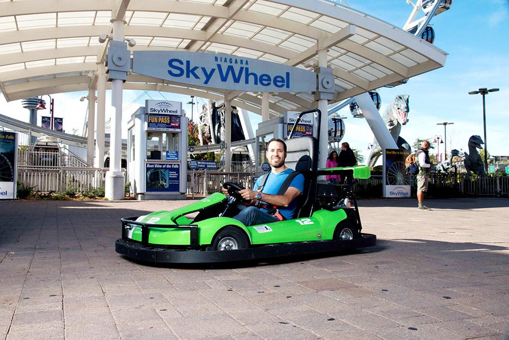 Mario Kart style go-kart track Niagara Speedway, Cliffton Hill Canada