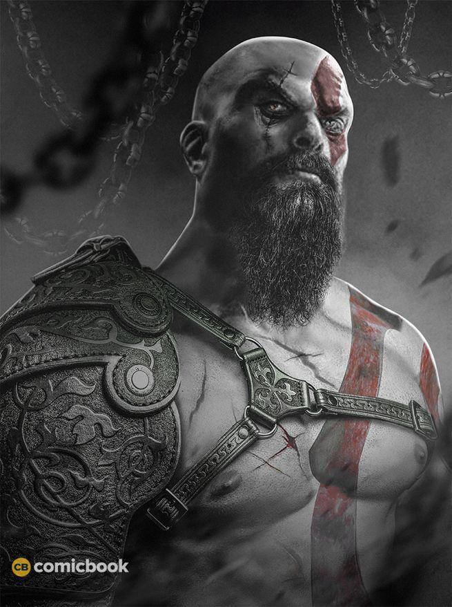 Jason Momoa as God of War Kratos Comic Book BossLogic