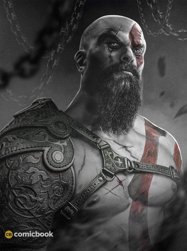 Jason Momoa as God of War Kratos Comic Book BossLogic