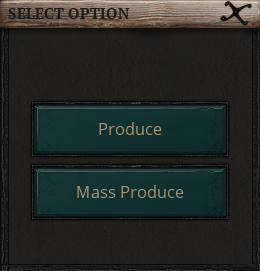 Life is Feudal Mass Produce Options