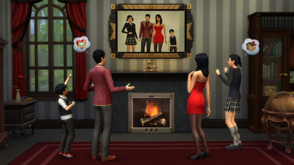 The Sims 5 The Sims 4 The Sims Mobile promotion family portrait EA