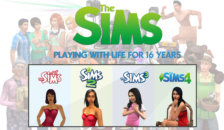 The Sims 5 The Sims 4 The Sims 3 The Sims 2 The Sims series 16 years promo pic