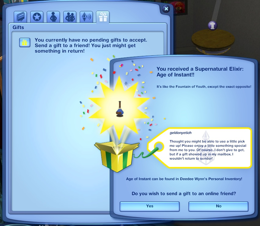 The Sims 5 mailbox The Sims 3 gift sending