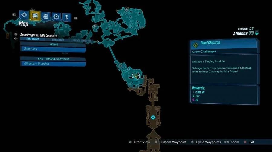 Athenas Dead Claptrap 2 900x506 - Borderlands 3 - Athenas, guida alle sfide