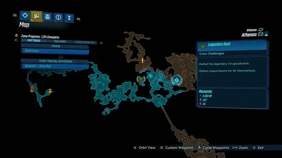 Athenas Legendary Hunt 900x506 - Borderlands 3 - Athenas, guida alle sfide