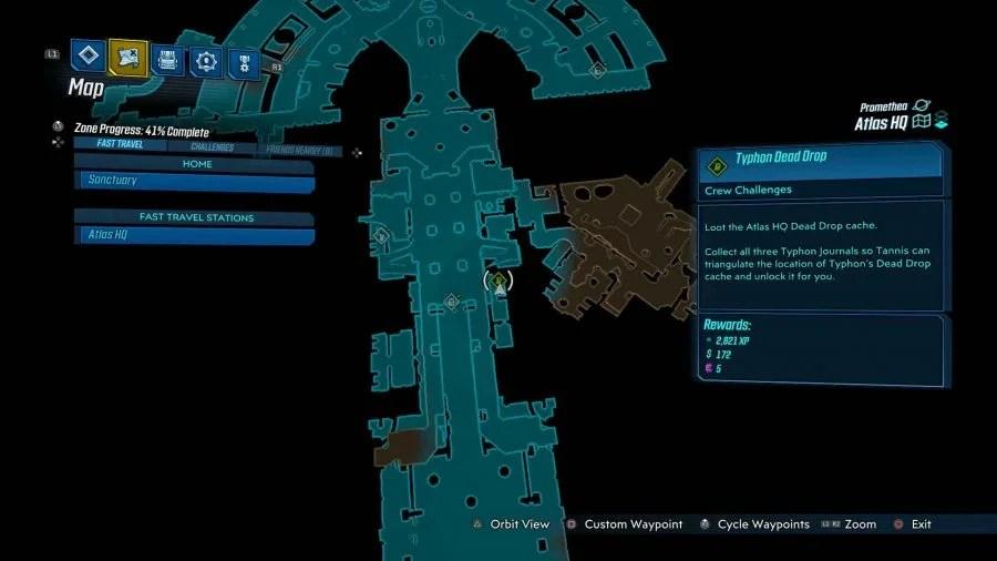 Atlas HQ Typhon Dead Drop 900x506 - Borderlands 3 - Atlas HQ, guida alle sfide