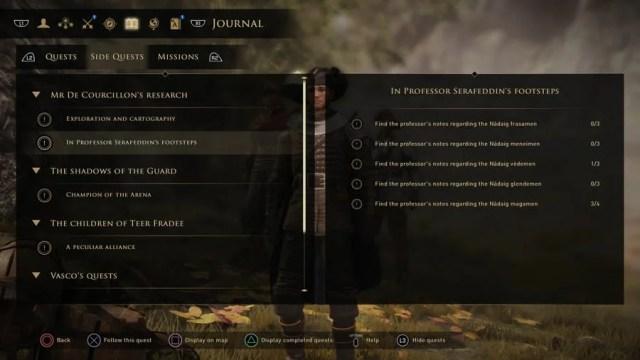 Greedfall In Professor Serafeddin's Footsteps Guide