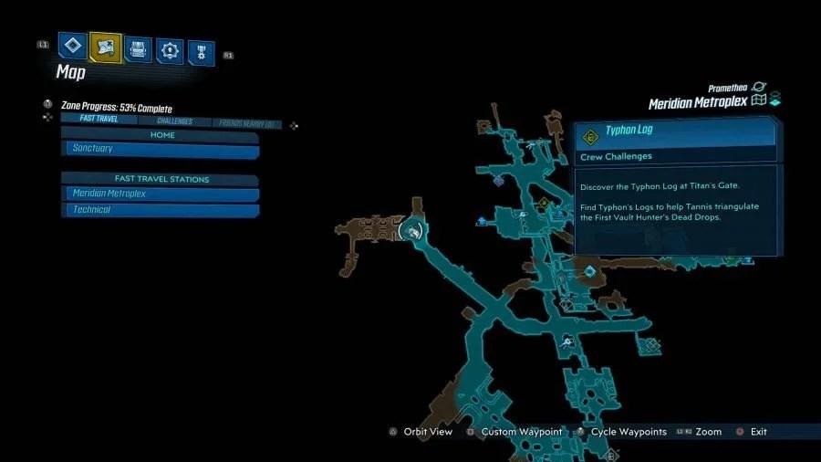 Meridian Metroplex Typhon Logs 3 900x506 - Borderlands 3 - Meridian Metroplex, guida alle sfide