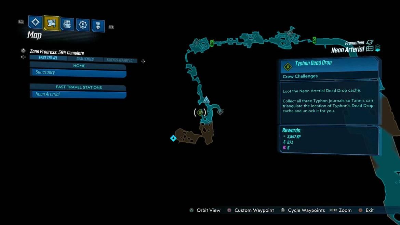 Neon Arterial Typhon Dead Drop - Borderlands 3 - Neon Arterial, guida alle sfide