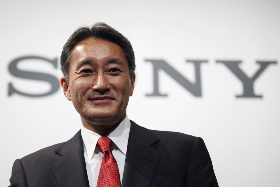 Sony Corp's new President and Chief Executive Officer Kazuo Hirai attends a news conference at the company's headquarters in Tokyo in this April 12, 2012 file photo. Sony Corp CEO Hirai has spent $1.8 billion in the past three months snapping up an assortment of businesses such as medical equipment and cloud gaming, leaving investors to worry he is blowing his firm's waning finances on a muddled plan to revive the fading giant. Hirai, a Sony veteran of nearly three decades, took over the top spot in April 2012 pledging to reshape the once-stellar brand around the pillars of gaming, digital imaging and mobile devices. Since his promotion, the company's stock market value has fallen by around $8 billion.     To match Analysis SONY-FINANCES/            REUTERS/Yuriko Nakao/Files  (JAPAN - Tags: HEADSHOT BUSINESS)