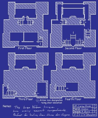 Floor plan blueprint of a Naboo house.