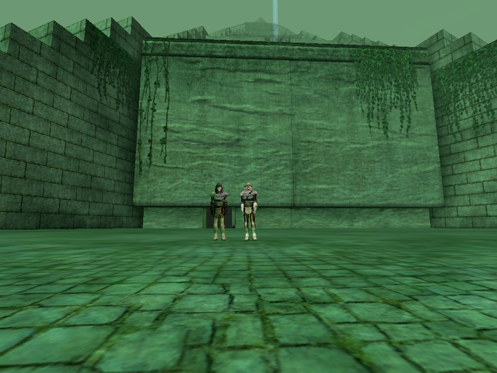 Moosacca and Rrrando (aka Rando) at the Jedi Temple. They were brother Wookiees in and out of the game.
