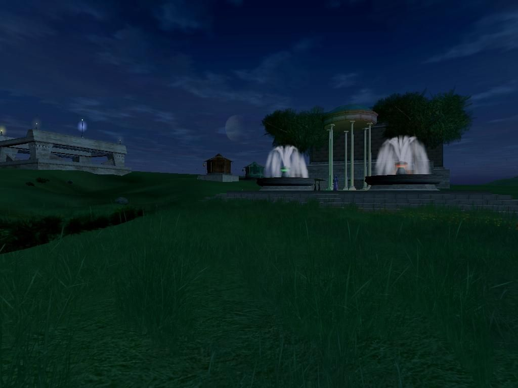 Trinity City became one of the fastest growing Rebel cities on Starsider. A gazebo can be seen on the right and a Shuttleport on the far left. The Shuttleport is a milestone for any player city, requiring rank 4 (City).