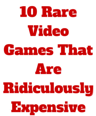 This list contains 10 rare video games that will expensive to buy