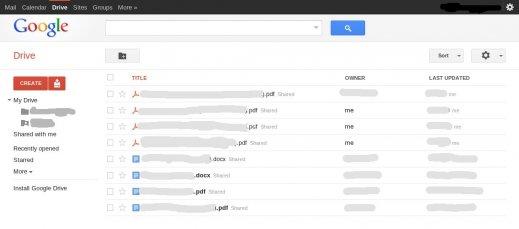 google-drive-screenshot Google Drive: Pour bientot?