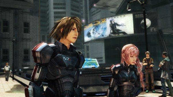 FFXIII-2N7 Final Fantasy XIII-2 : L'armure N7 de Mass Effect 3 se devoile en image