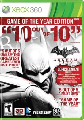 Batman_goty Batman : Arkham City – L'édition GOTY