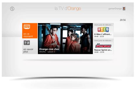TVOrangesurXBox360 La TV d'Orange débarque sur Xbox 360 et Kinect !