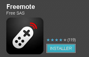 freemote-install Android : Freemote, application officielle de la télécommande freebox