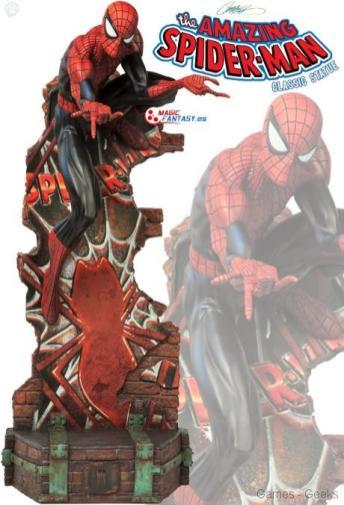 marvel-spider-man-classic-polystone-statue Figurine : SpiderMan