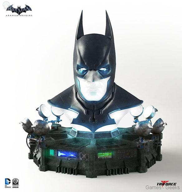 Batman-Arkham-Origins-Cowl-Full-Scale-Replica Geek : Sélection de figurines de l'univers Batman