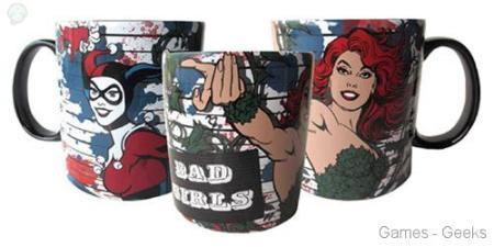 DC-Comics-Bad-Girls-14-oz-Mug Figurine et Goodies Harley Quinn