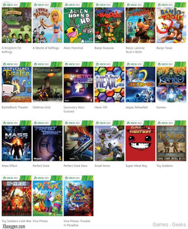 jeux-xbox-360-retrocompatible-xbox-one-liste-2ab46 [e3] La Xbox One lira les jeux de la 360