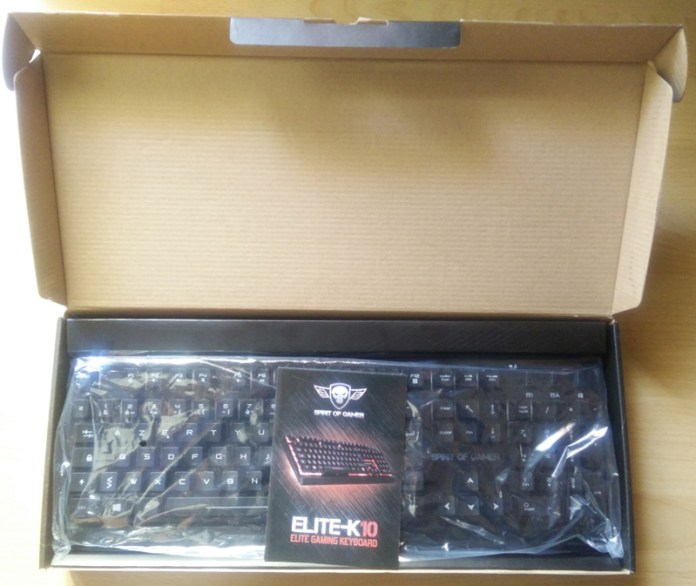 EliteK10_packaging_open Test - Clavier Gamer Elite-K10