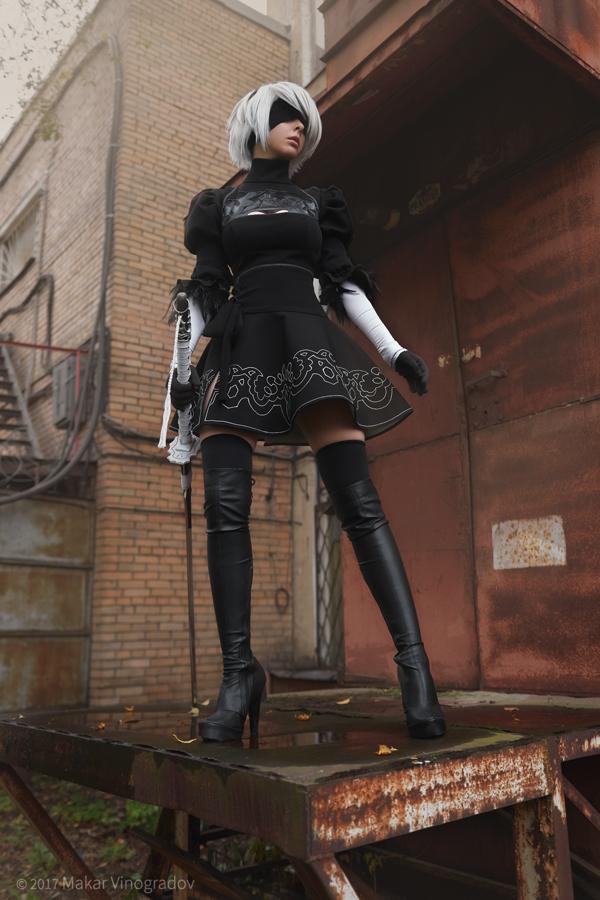 nier__automata__yorha_no_2_type_b__aka_2b__cosplay_by_disharmonica-db03kb2 Cosplay - NieR Automata #145