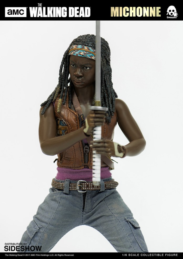 amc-the-walking-dead-michonne-sixth-scale-threezero-902991-08 Figurine - The Walking Dead - Michonne et ses rôdeurs