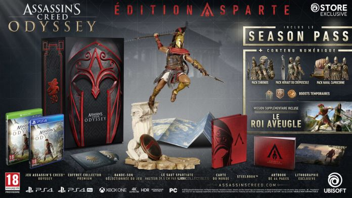 aco-edition-sparte Assassin's Creed Odissey - Les éditions spéciales et collector