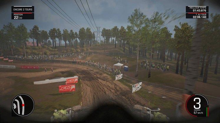MXGP_VueCasque Mon avis sur MXGP Pro - La boue, ça colle mais c'est fun !
