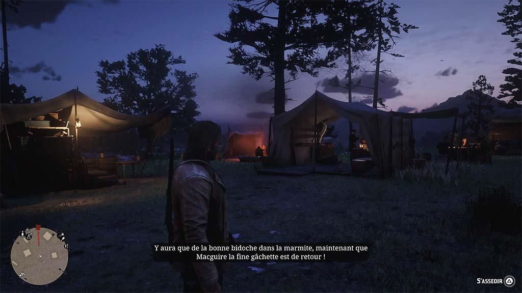 vue_camp_nuit Mon avis sur Red Dead Redemption II - Paré pour la grande épopée ?
