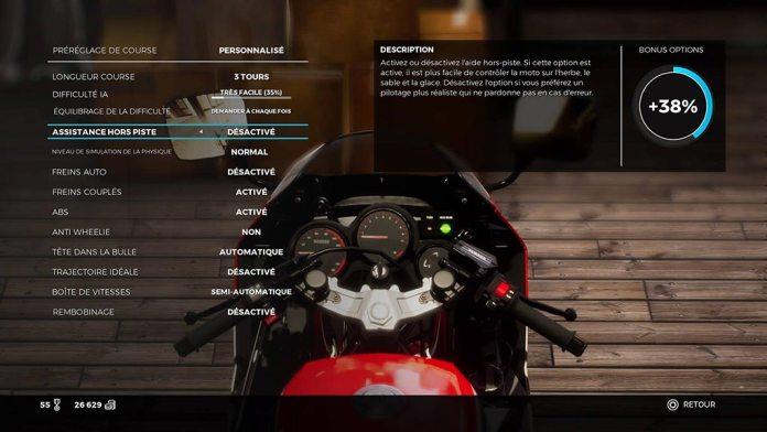 menu_difficulte Mon avis sur Ride 3 - Un opus fracassant, enfin !