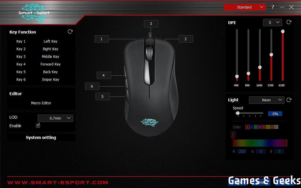 Smart-eSport-Pro-Gaming-Mouse-0001-1024x640 Présentation de la souris gaming Pro Gaming Mouse  de Smart eSport