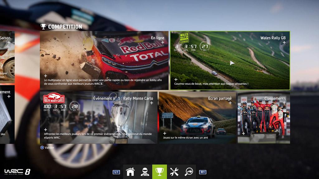 menu_accueil_competition-1024x576 Mon avis sur WRC 8 – Le challenger est là !